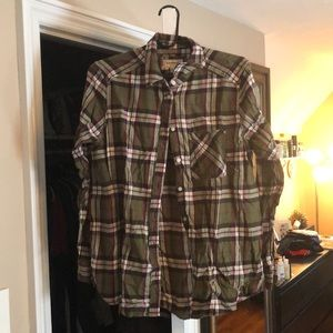 Express Boyfriend Fit Plaid Shirt